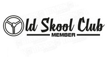 OLD SKOOL CLUB MEMBER  STICKER