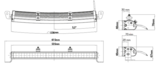 """LEDSON Apollo C LED - 105W LED BAR - 21"""" (53 cm) - GEBOGEN_"""