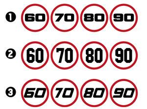 SNELHEIDSTICKERS - 60-70-80-90