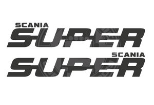 SUPER SCANIA RAAMSTICKER