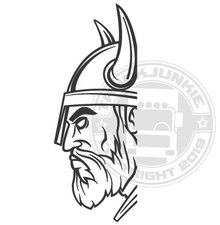 VIKING HEAD - RAAMSTICKER