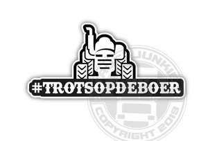 #TROTSOPDEBOER - FULL PRINT STICKER