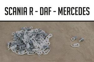 Haken en runners Scania R/DAF/MB