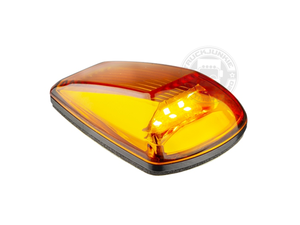 LED TOPLAMP / MARKERINGSLAMP - 9-32V -  ORANJE GLAS