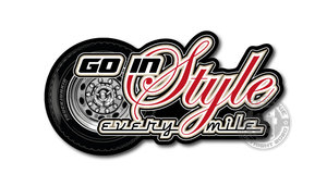 GO IN STYLE - EVERY MILE - FULL PRINT STICKER
