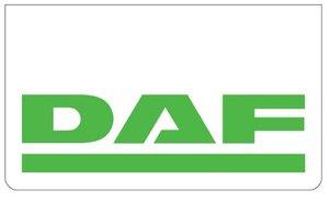 SPATLAP VOORBUMPER WIT - DAF OPDRUK IN GROEN