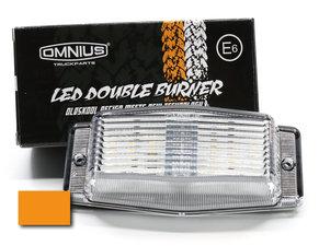 HELDER GLAS /ORANJE - LED DUBBELBRANDER - OMNIUS