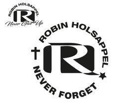ROBIN HOLSAPPEL - NEVER FORGET - SNIJSTICKER