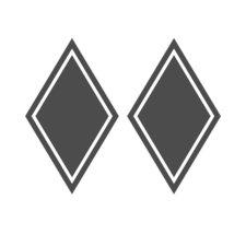 HOEKSCHILD STICKER RUITVORM