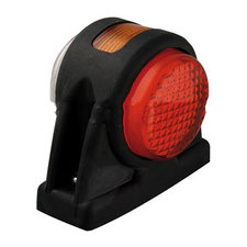 Zijverlichting wit-oranje-rood