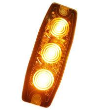 ULTRA DUNNE FLITSER - 3 LED - ORANJE