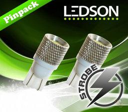 LED STROBOSCOOP LAMP T10/W5W - DUBBEL FUNCTIE