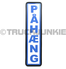 PAHAENG BORD BLAUW - 40X10CM
