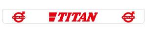 TITAN 250X25 SPATLAP - ACHTERBUMPER - ROOD!