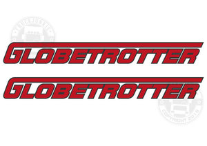 GLOBETROTTER - TWEEKLEURIGE STICKER