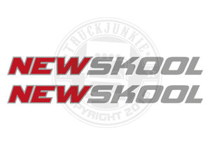NEWSKOOL - STICKER - 2-TONE