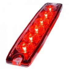 ULTRA DUNNE FLITSER - 6 LED - ROOD