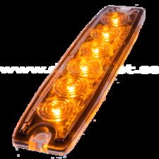 ULTRA DUNNE FLITSER - 6 LED - ORANJE
