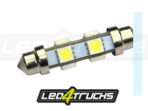 XENON WIT - 6xSMD LED 24-28V - FESTOON