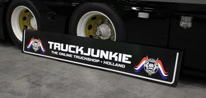 SPATLAP - TRUCKJUNKIE HOLLAND VLAGGEN - THE ONLINE TRUCKSHOP 250 X 40/30