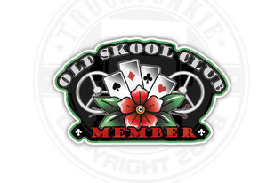 OLD SKOOL CLUB MEMBER - FULL PRINT STICKER