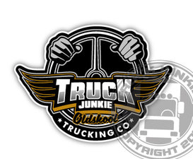 TRUCKJUNKIE WHEEL & WINGS - FULL PRINT STICKER