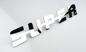 SUPER EMBLEEM - RVS GEPOLIJST