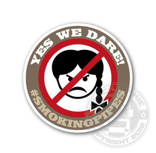 #SMOKINGPIPES - YES WE DARE! - FULL PRINT STICKER