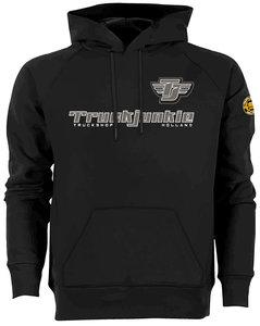 Truckjunkie wings hoodie sweater black