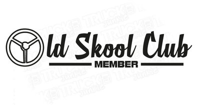 OLD SKOOL CLUB MEMBER STICKER