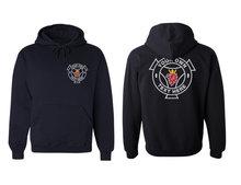 Hoode sweater Scania logo achterkant eigen tekst