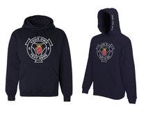 Hoode sweater Scania logo voorkant eigen tekst