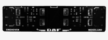 DAF KENTEKENPLAAT HOUDER - LICENSEPLATE HOLDER