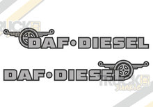 DAF DIESEL WINDOW STICKER
