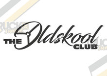 the oldskool club sticker Truckjunkie