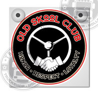 OLD SKOOL CLUB HONOR RESPECT LOYALTY LICHTBAKJE