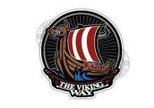 THE viking way vikingschip sticker vrachtwagen