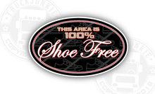 100% SHOE FREE AREA STICKER INSTAP VRACHTWAGEN