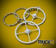 4 spoke keyhanger white